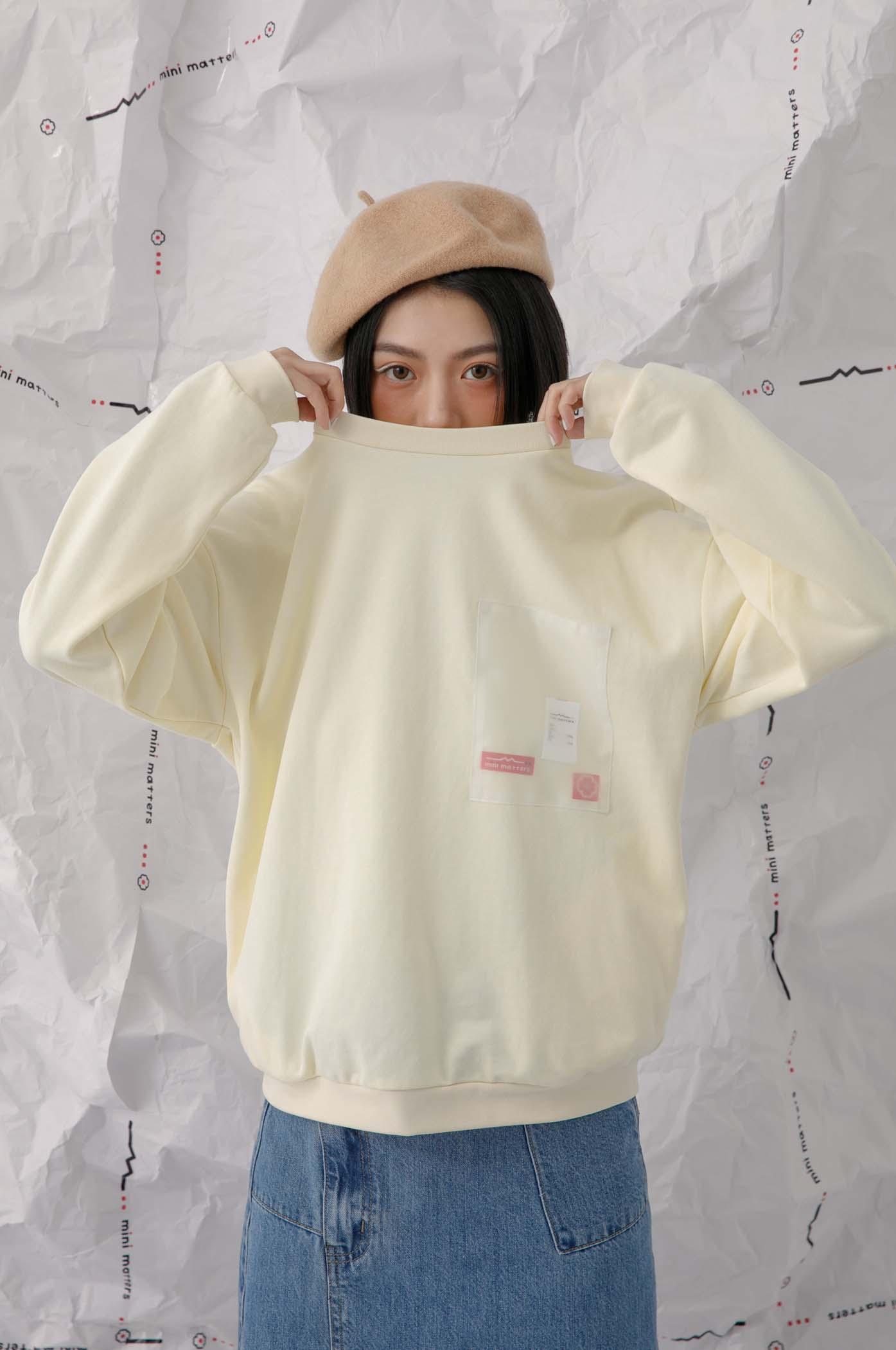 透明口袋織標衛衣