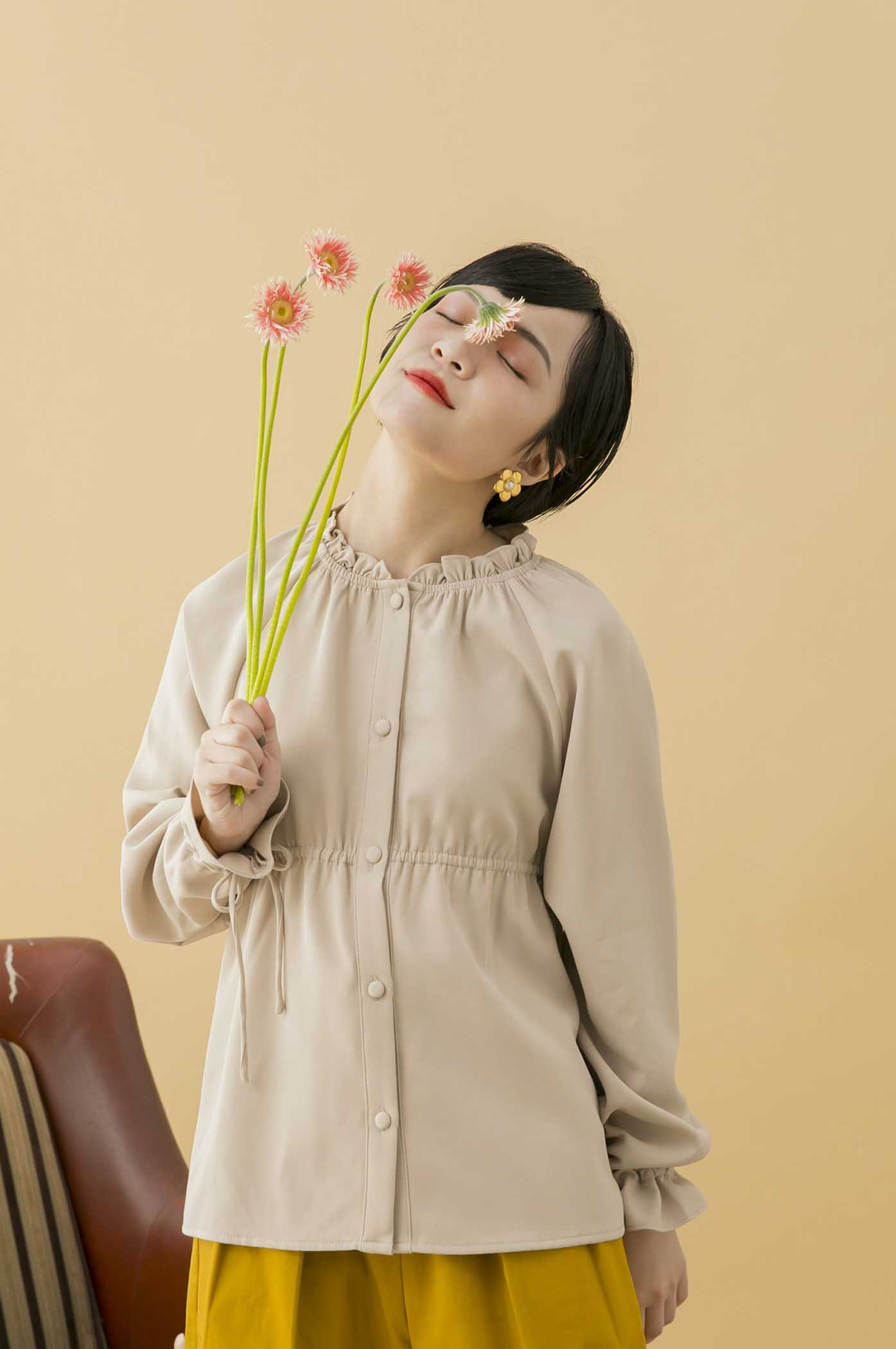 復古花仙子襯衫