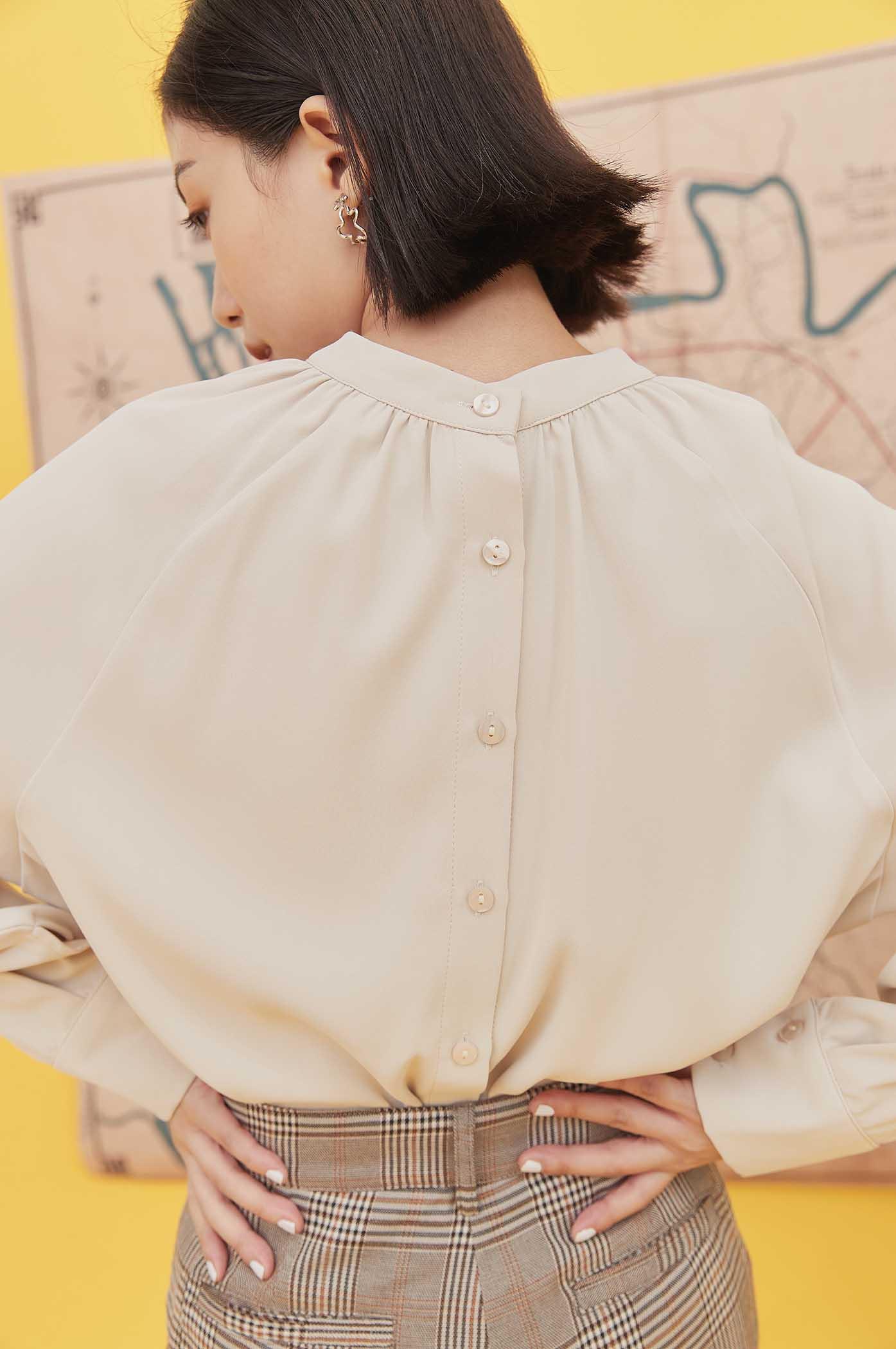 拉克蘭袖後釦合襯衫