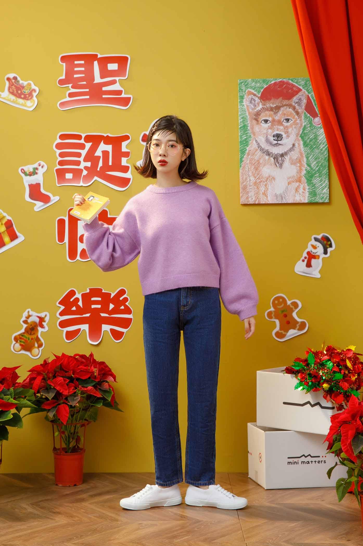 時髦長腿姊姊窄管牛仔褲