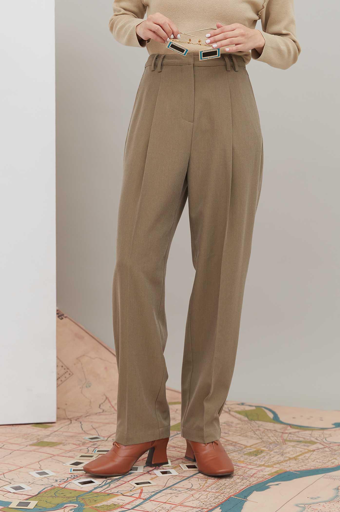 大活褶長褲
