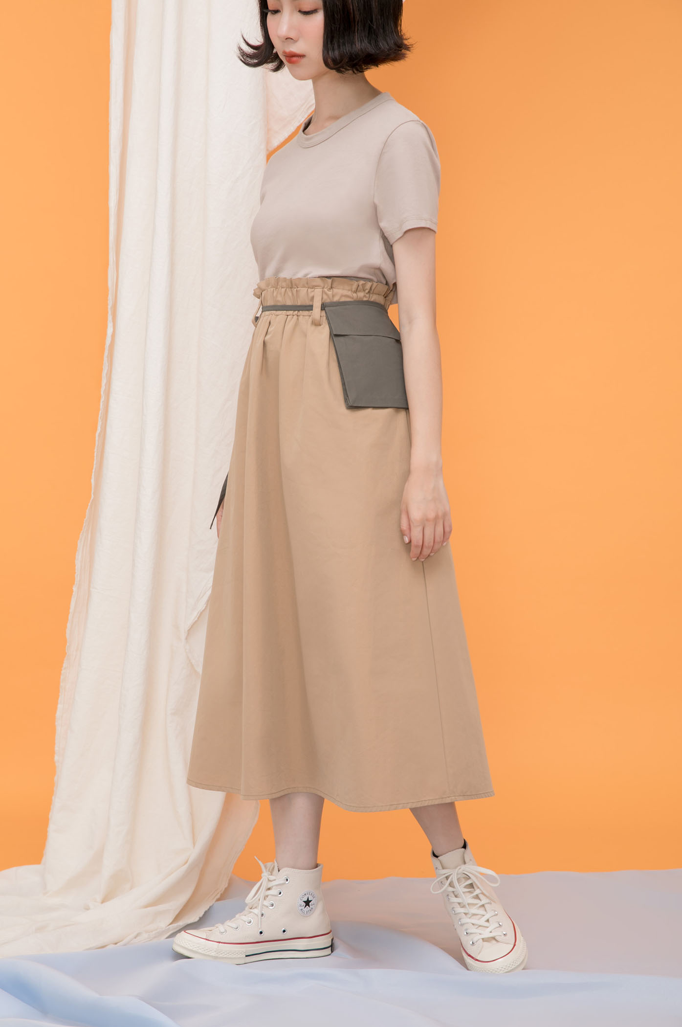 可拆式腰間小包傘裙