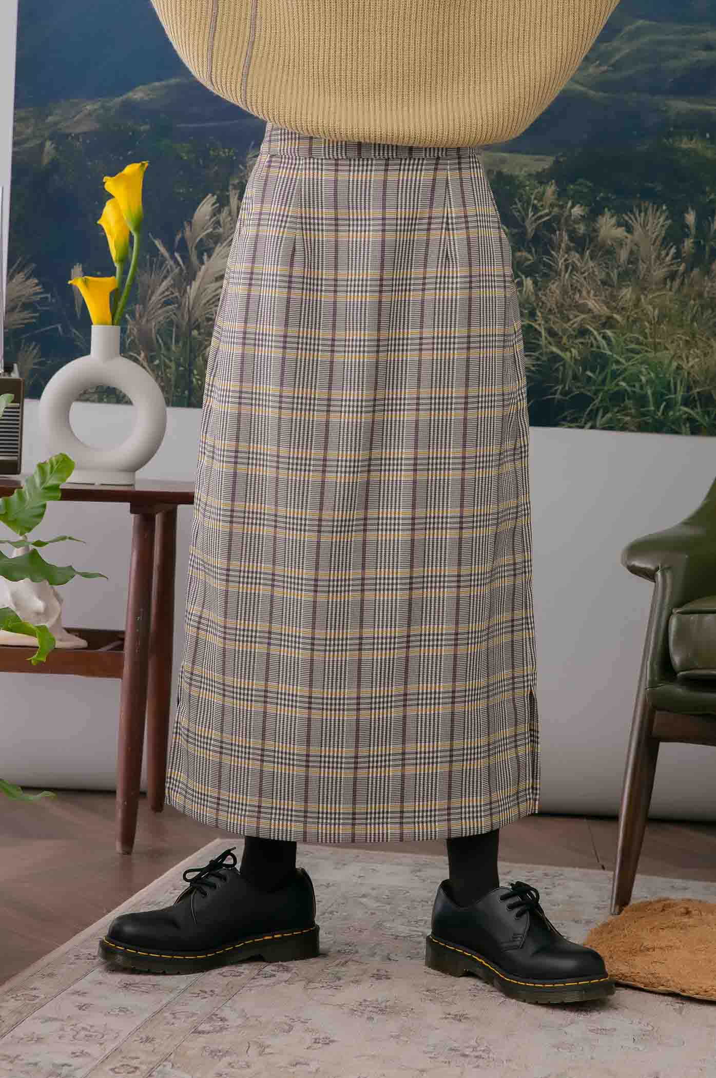 獨領風騷格紋裙