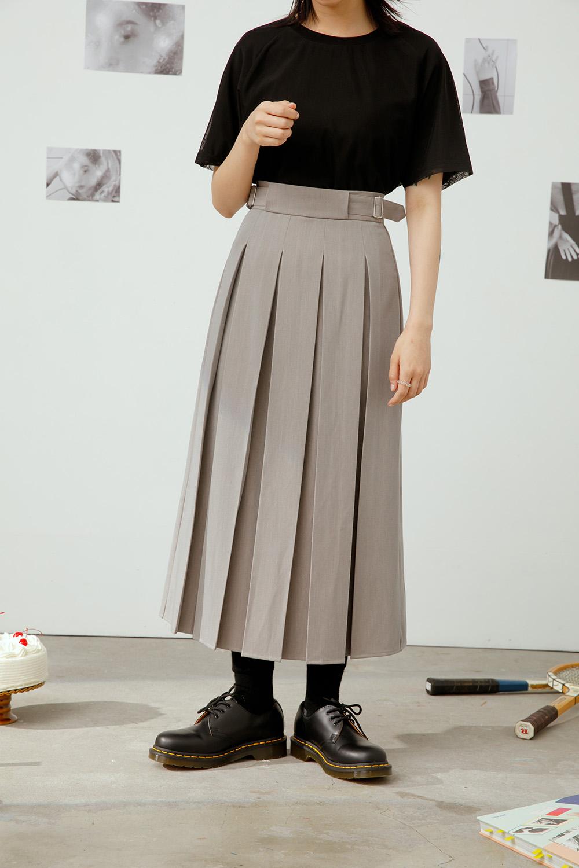 顯瘦箱褶裙 (可調節腰)