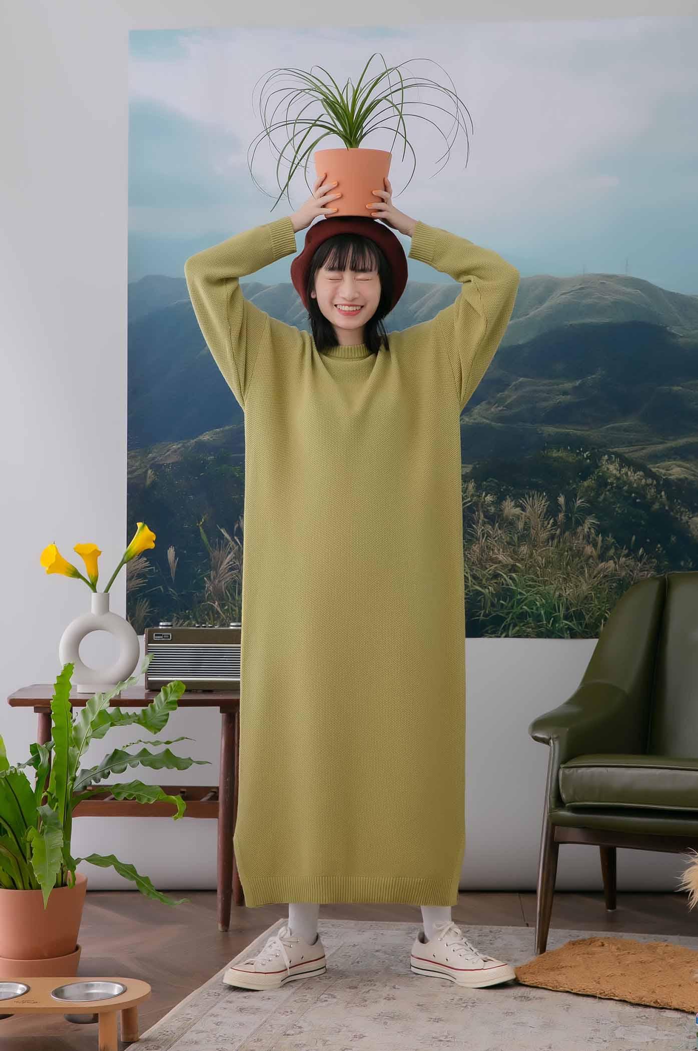 人人必備繭型針織洋裝