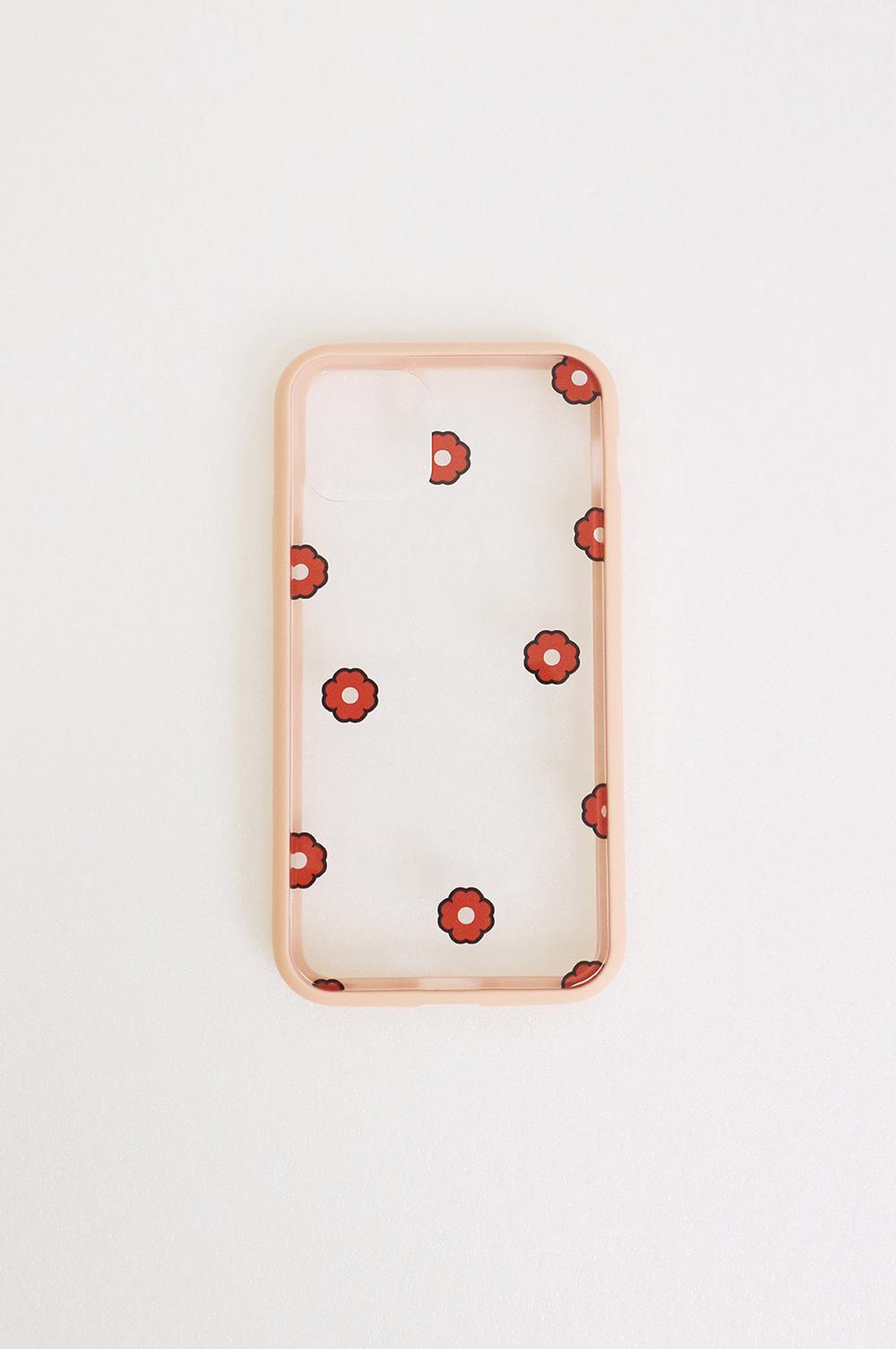 滿地開花透明手機殼
