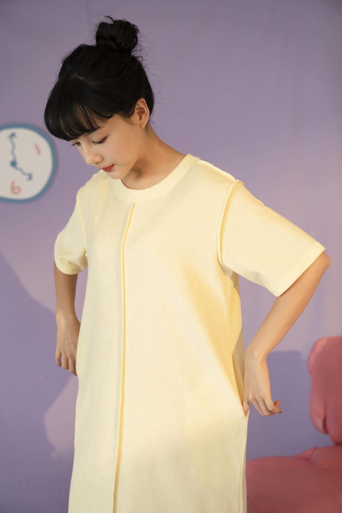 柔軟毛巾布洋裝